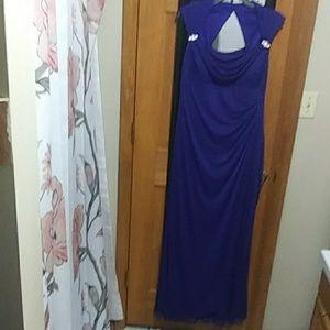 Dark Blue Evening Gown